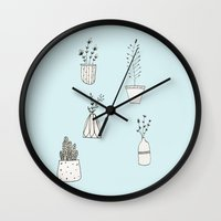 plants Wall Clocks featuring Plants by nani-nana