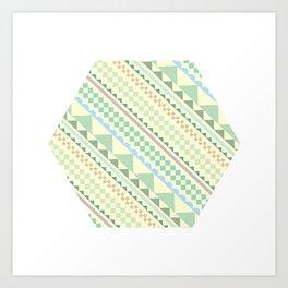 Textile Hexagon Art Print