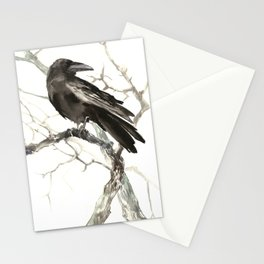 Raven on the Tree Stationery Cards