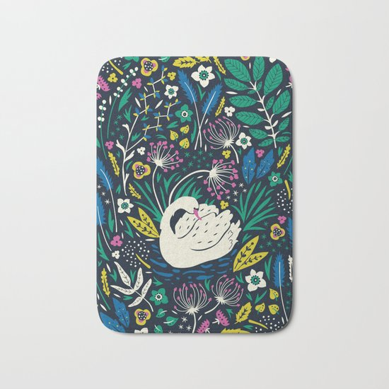 Wild Swan Bath Mat
