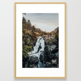 Double Waterfall Framed Art Print