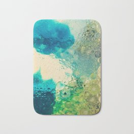 Retro Abstract Photography Underwater Bubble Design Bath Mat