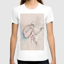 Have nots, depressed female figure, NYC artist T-shirt