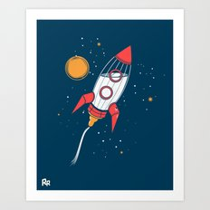 Bottle Rocket to the Milky Way Art Print
