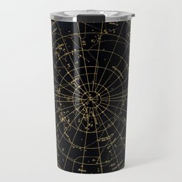 Golden Star Map Travel Mug