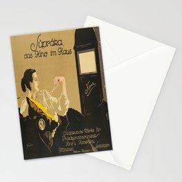 süpräka, das kino im haus. 1920  oude poster Stationery Cards