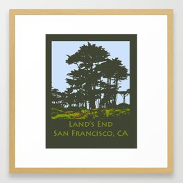 Lands End San Francisco Print Framed Art Print