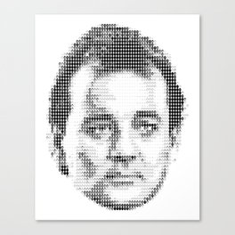 Bill Murray Groundhog Day Meta Portrait  Canvas Print
