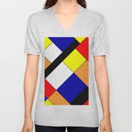 Mondrian #18 Unisex V-Neck