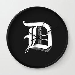 Letter D Wall Clock