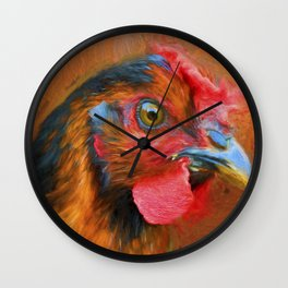 Colorful Chicken Wall Clock
