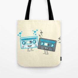 Mixed-Up Tapes Tote Bag