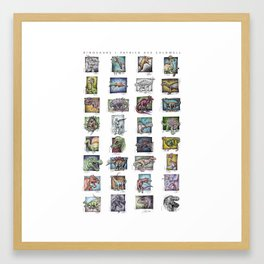 Dinosaurs Compilation Framed Art Print
