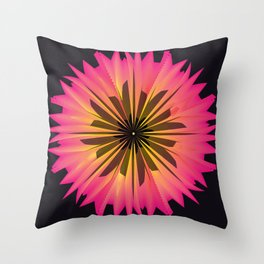 Graphic Flower Throw Pillow