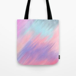 Modern abstract artsy pink lavender teal brushstrokes Tote Bag