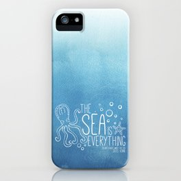 20,000 Leagues Under the Sea - Jules Verne | Quote 1 iPhone Case