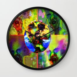 """""""Warholesque"""" by surrealpete Wall Clock"""