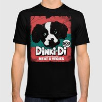 DINKI-DI DOG FOOD Mens Fitted Tee X-LARGE Black