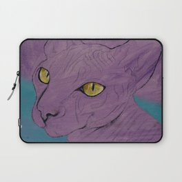 Purple Sphynx Laptop Sleeve