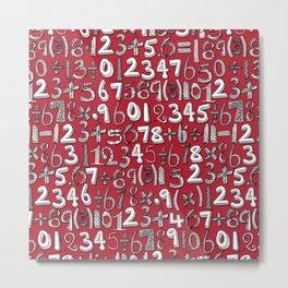math doodle red Metal Print