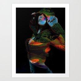 Hooded Woman 2 Art Print