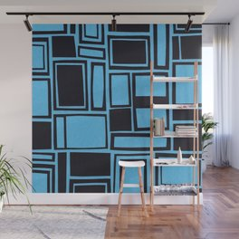 Windows & Frames - Blue Wall Mural