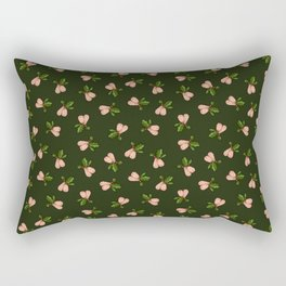 Jingle Balls, Christmas Holly and Testicles in Green Rectangular Pillow