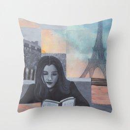 A Trip to Paris Throw Pillow