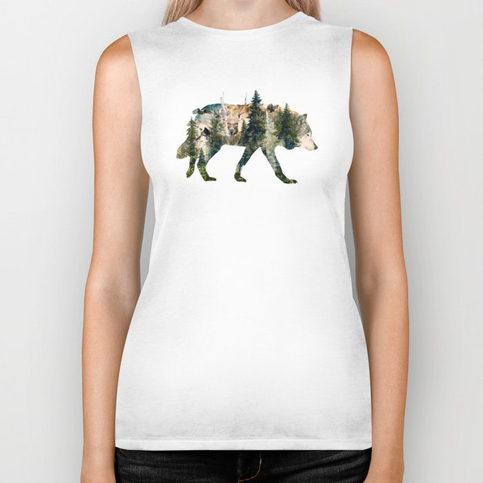 Wolf is the Pride of Nature Biker Tank