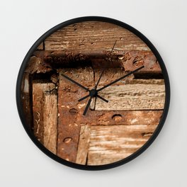 LOST PLACES - dusty rusty hinge Wall Clock