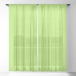 From The Crayon Box – Inch Worm Green - Bright Lime Green Solid Color Sheer Curtain