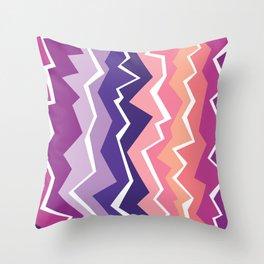 80s Zigzag 2 Throw Pillow