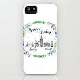 Christmas Europe iPhone Case