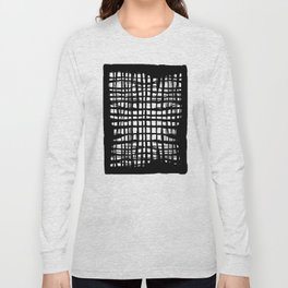 black and white screen Long Sleeve T-shirt
