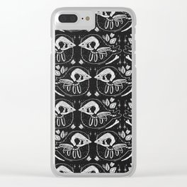 SPOOKY BIRBS Clear iPhone Case