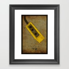 Alternative Terminator 2 Movie Poster Framed Art Print