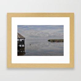 Outerbanks Bay Landscape Scene 2 Framed Art Print