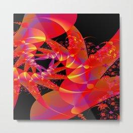 Firecracker Red Metal Print