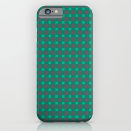 Green gray , plaid iPhone Case