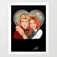 Heart Shaped Universe Art Print