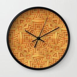 Fall Basket Pattern Wall Clock