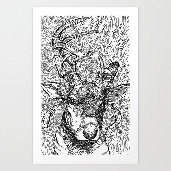 The Prince of Deer Art Print