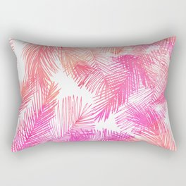 Trendy coral pink watercolor hand drawn palm tree  Rectangular Pillow