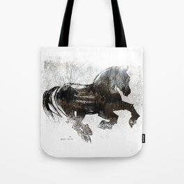 Horse (Winter Canter) Tote Bag