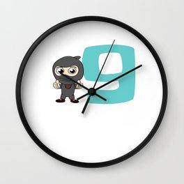Birthday Ninja Party 9th Samurai Ninjas Gift Japanese Ninja stars Fighter Gift Wall Clock