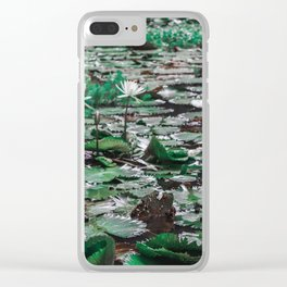 A Pond of Lily Pads Clear iPhone Case