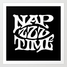 Nap Time Black and White Art Print