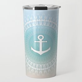 Anchor And Mandala Maritim Travel Mug