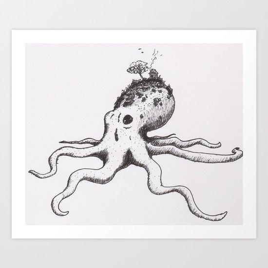 Octo-Hill Art Print