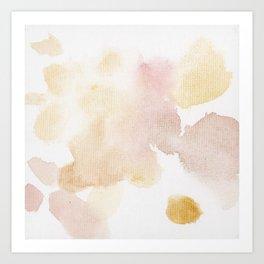 Bloom No.12 Abstract watercolor floral Art Print